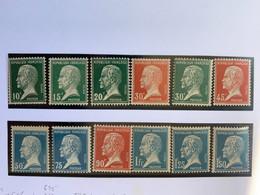 TTB France 1923/1926 -  TimbresTYPE PASTEUR (SERIE COMPLETE) - N°170 à 181 NEUFS** - 1922-26 Pasteur