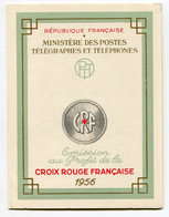 RC 21255 FRANCE COTE 90€ N° 2005 CARNET CROIX ROUGE DE 1956 NEUF ** MNH TB - Red Cross