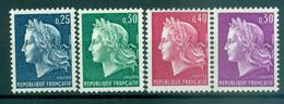 France 1967-69 - Y & T  N. 1535/36B - Type Marianne De Cheffer - 1967-70 Marianne Of Cheffer