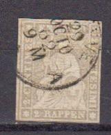 Suisse 1854 Helvetia Yvert 25 Oblitere - Oblitérés