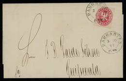TREASURE HUNT [00725] Prussia 1867 Cover From Damgarten To Greifswald Bearing 1 Sgr Carmine Single Franking - Pruisen