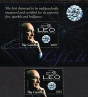 Gambia - 2003 - Leo Diamond - Mint Stamp + Souvenir Sheet - Gambia (1965-...)