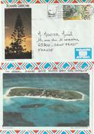 Nouvelle Calédonie Yvert PA 297 Essence De Niaouli Sur Lettre Illustrée Nouméa 22/7/1993 Pour St Priest Rhône - Alambic - Lettres & Documents