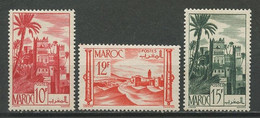 MAROC 1947 N° 260A/262 ** Neufs MNH Superbes C 3.36 € Kasbah D' Ouarzazat Forteresse - Nuevos