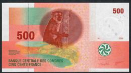 COMORES P15c 500 FRANCS TYPE 2006 Issued 2020 Signature 9 #S   UNC. - Comoros