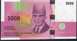 COMORES P18c 5000 FRANCS TYPE 2006 Issued 2020 Signature 9 #H   UNC. - Comoros