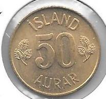 *iceland 50 Aurar 1974    Km 17    Unc/ms63 - Islandia