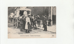 CPA:VOITURE MILITAIRE AMBULANCE ANGLAISE ENGLISH FIELD HOSPITAL - Other