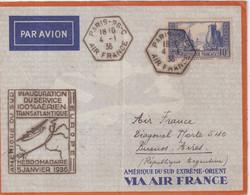 "FRANCE : PA . SERVICE TRANSLATLANTIQUE . "" FRANCE AMERIQUE DU SUD "" . 1936 . - Luftpost"