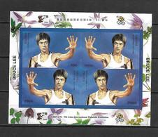 Abkhazia 1996 Bruce Lee - 9th Asian International Philatelic Exghibition IMPERFORATE MS MNH (DMS14) - Attori