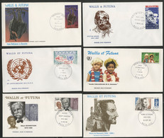 Wallis Et Futuna Enveloppes PREMIER JOUR N° 329 + 330 + 331 + 332 + 333 + 334 - FDC