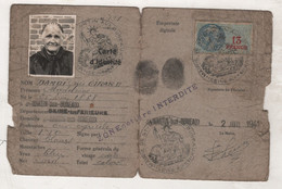 76 SEINE MARITIME - SAINT MARTIN AUX BUNEAUX - CARTE D'IDENTITE / ZONE COTIERE INTERDITE - 1941 - Documenti Storici