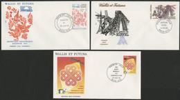 Wallis Et Futuna Enveloppes PREMIER JOUR N° 303 + 304 + 305 - FDC