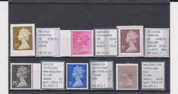 #82 GB Specialised Selection Of Machin Stamps - Machins