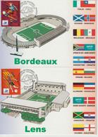 Carte Maximum 1998 Lot De 10 Cartes Ville/stade Coupe Du Monde De Football France 98 - 1990-99