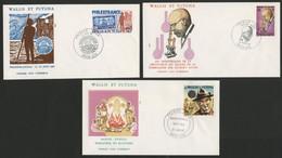 Wallis Et Futuna Enveloppes PREMIER JOUR N° 281 + 285 + 290 - FDC