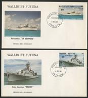 Wallis Et Futuna Enveloppes PREMIER JOUR N° 279 + 280 Navire De Guerre - FDC