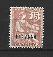 Timbre De Colonie Française Zanzibar Neuf *  N 49 - Nuevos