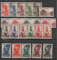 Dahomey 1941 Série Courante 120-141 22 Val * Charnière MH - Unused Stamps