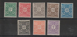 Dahomey 1914 Série Taxe 9-16 8 Val * Charnière MH - Nuovi