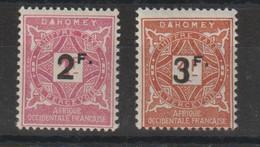Dahomey 1927 Série Taxe Surchargé 17-18 2 Val * Charnière MH - Nuovi