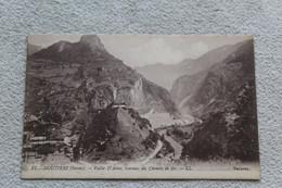 Cpa 1931, Moutiers, Vallée D'Aime, Travaux Du Chemin De Fer, Savoie 73 - Moutiers