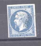France  :  Yv  14B  (o)   PC 3462    LE VAL D'AJOL - 1853-1860 Napoléon III
