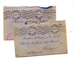 Lettre Franchise Militaire Flamme Miette Luneville - Mechanical Postmarks (Advertisement)