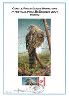 CS/HK - BUZIN  - Carte Souvenir Numérotée, Signée - 2007 -  Herdenkingskaart Genummerd, Getekend - Autour Des Palombes - Personalisierte Briefmarken