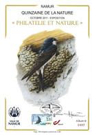 CS/HK - BUZIN  - Carte Souvenir Numérotée, Signée - 2011 -  Herdenkingskaart Genummerd, Getekend - Hirondelle De Fenêtre - Personalisierte Briefmarken
