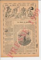 4 Vues Presse 1909 La Chasse Au Grand Duc Oiseau Hibou Owl Bird Hunting 249/31 - Sin Clasificación