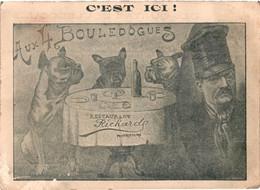38 - Allevard-les-bains - Hôtel Des 4 Bouledogues - Restaurant Richard - Surréalisme - Chiens à Table - Allevard