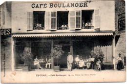 EPINAL   CAFE  BOULANGER  29 RUE ENTRE LES DEUX PORTES  CARTE EN L'ETAT  PETIT MANQUE SUR UN ANGLE - Epinal
