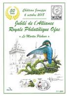 CS/HK - BUZIN - Carte Souvenir Numérotée, Signée - 2018 - Herdenkingskaart Genummerd, Getekend - Martin Pêcheur - Personalisierte Briefmarken