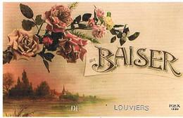 27 UN BAISER   DE LOUVIERS    CPM  TBE   752 - Louviers
