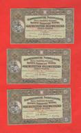 Svizzera 5 Francs 1951 ( Febbraio )  3 Banconote Numeri Consecutivi Schweiz Suisse Switzerland - Suisse