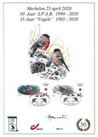 CS/HK - Carte Souvenir / Herdenkingskaart - Mystamp° - Bouvreuil / Goudvink / Gimpel / Bullfinch - BUZIN - NUMÉROTÉE - Personalisierte Briefmarken
