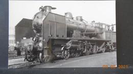 Photo De Format CP - Locomotive En Gare De Bourges 1947 - Trains