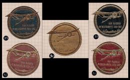 "WW1 GERMANY AUSTRIA CINDERELLA VIGNETTE ""Der Flieger Im Weltkampfe 1914-1917"" Flying Biplane (gold Embossing) EXTRA RARE - Erinnophilie"