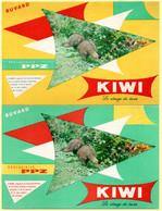 2 Buvards Kiwi, Le Cirage De Luxe. - Wash & Clean