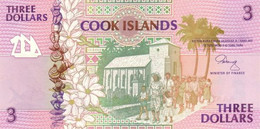 Cook Islands P.7  3 Dollars 1992  Unc - Cook Islands