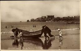 CPA Kanalinsel Guernsey, Fort La Marchant, Strandpartie - Sonstige