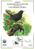 CS/HK - BUZIN - Carte Souvenir Numérotée, Signée - 2015 - Herdenkingskaart Genummerd, Getekend - Le Merle Noir - Personalisierte Briefmarken
