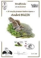 CS/HK - BUZIN - Carte Souvenir Numérotée, Signée - 2015 - Herdenkingskaart Genummerd, Getekend - Chouette / Uil - Personalisierte Briefmarken
