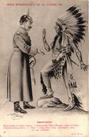 Série Humoristique De La Guerre 1914 - Illustrateur Jarry - Appréciaition - Guillaume Au Chef Des Indiens - Humour