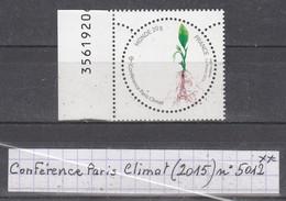 France Conférence Paris-climat (2015) Y/T N° 5012 Neuf * - Nuovi
