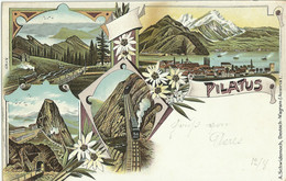 Pilatus. Circulated. Lithographie. (without Stamp) - LU Lucerne