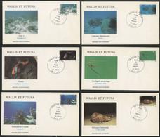 Wallis Et Futuna Enveloppes PREMIER JOUR N° 267 à 272 Faune Et Flore Pélagiques - FDC