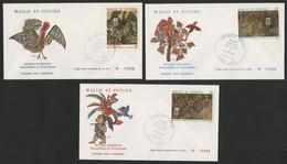 Wallis Et Futuna Enveloppes PREMIER JOUR N° 245 à 247 Oeuvres D'artistes - FDC