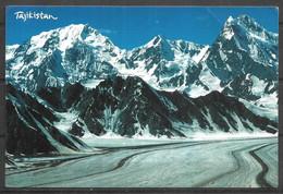TAJIKISTAN POSTCARD , VIEW CARD FEDCHENKO GLACIER - Tadzjikistan